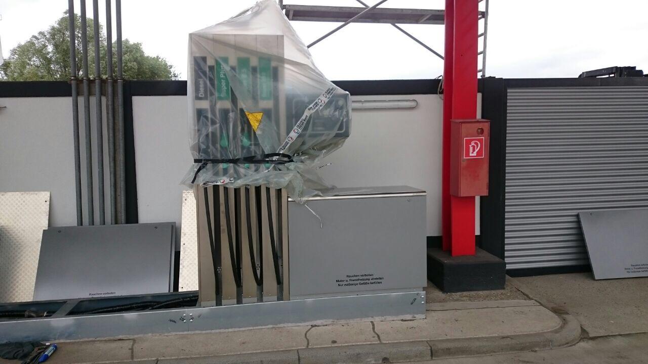Benzin und Diesel Zapfsäulen Tankstelle Gemmingen
